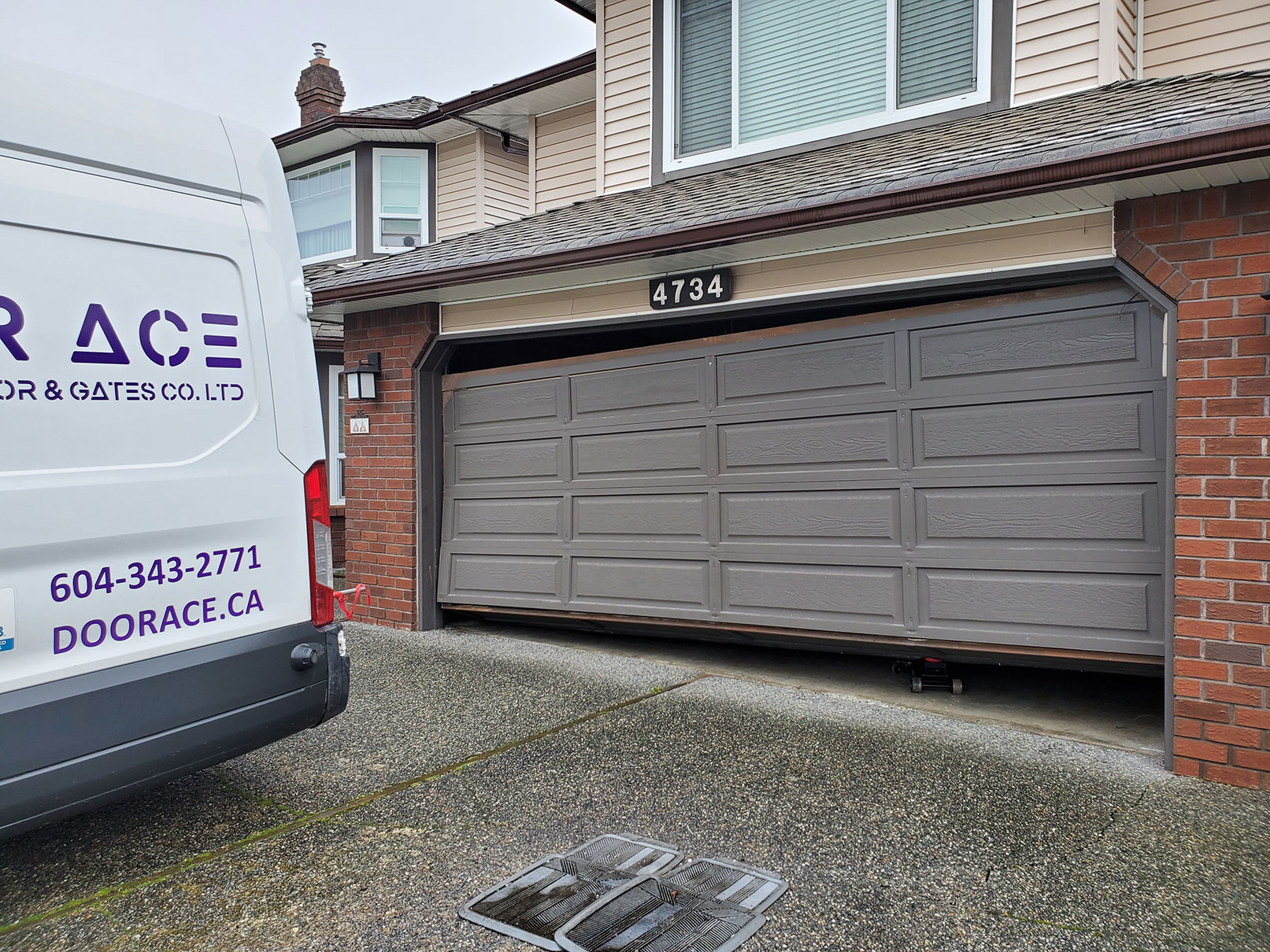 1. Doorace Residential Garage Door Repair Before