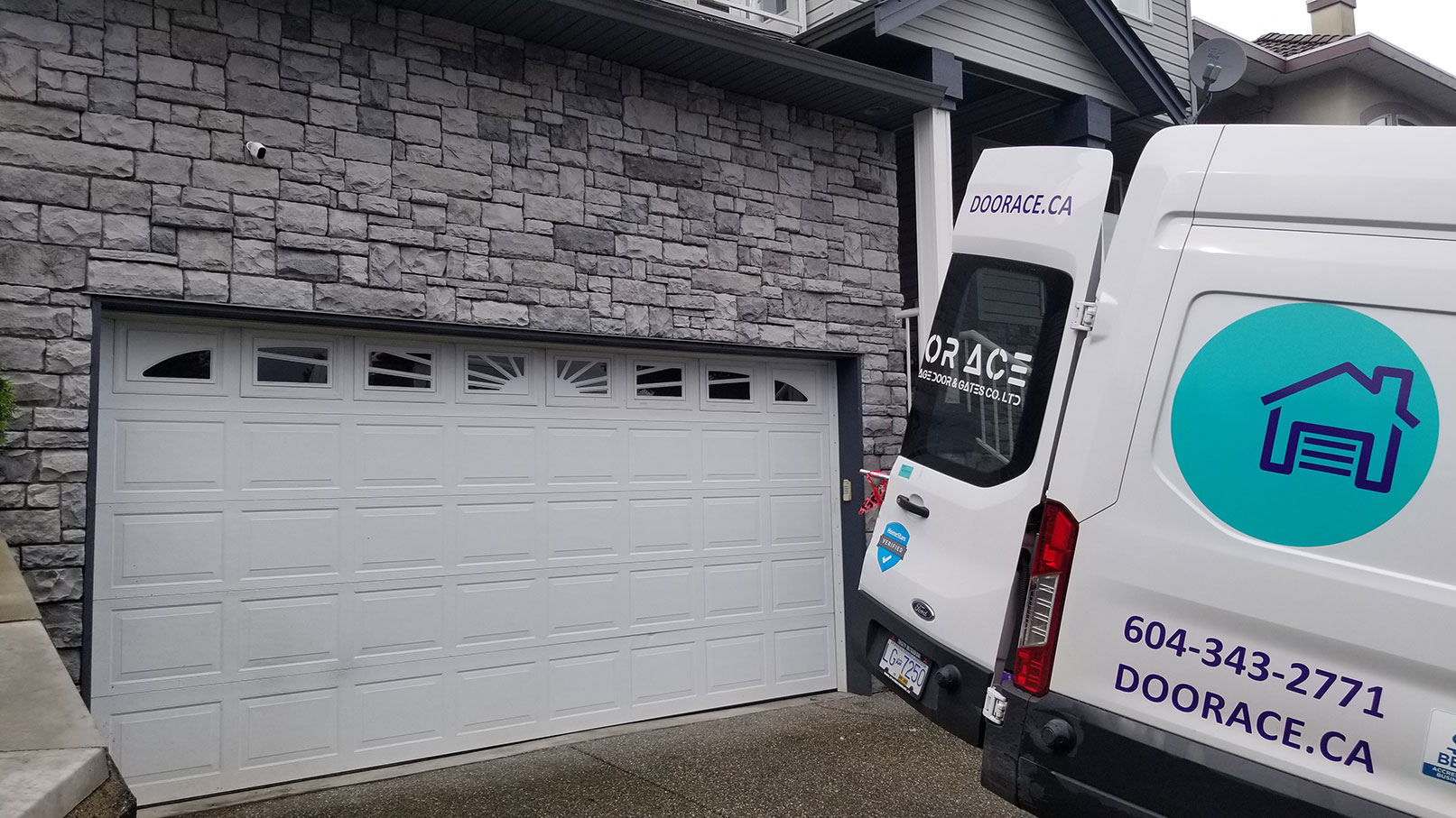 1. Residential Garage Door Install Before