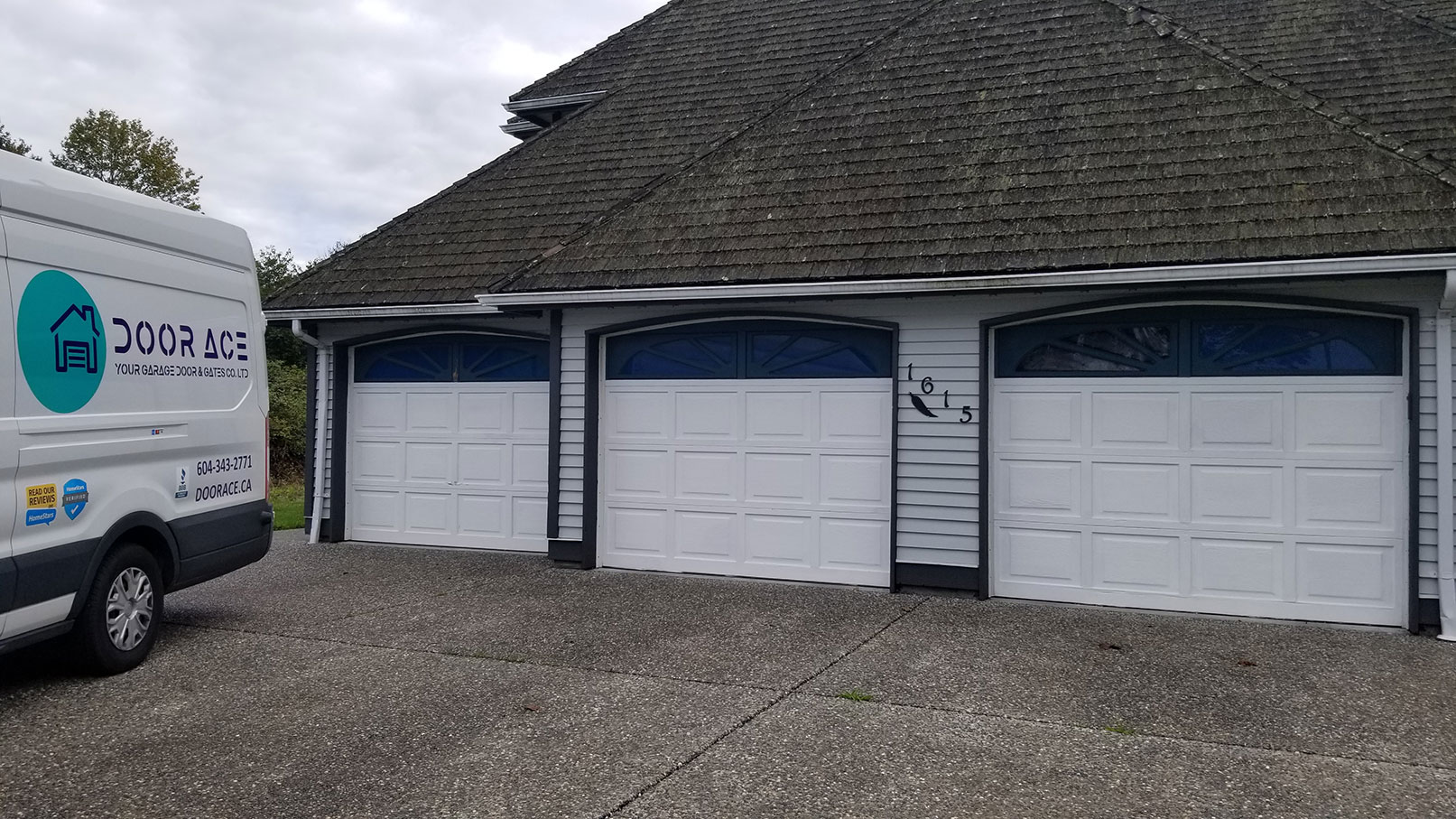 1. Triple Garage Door on Home Install Before