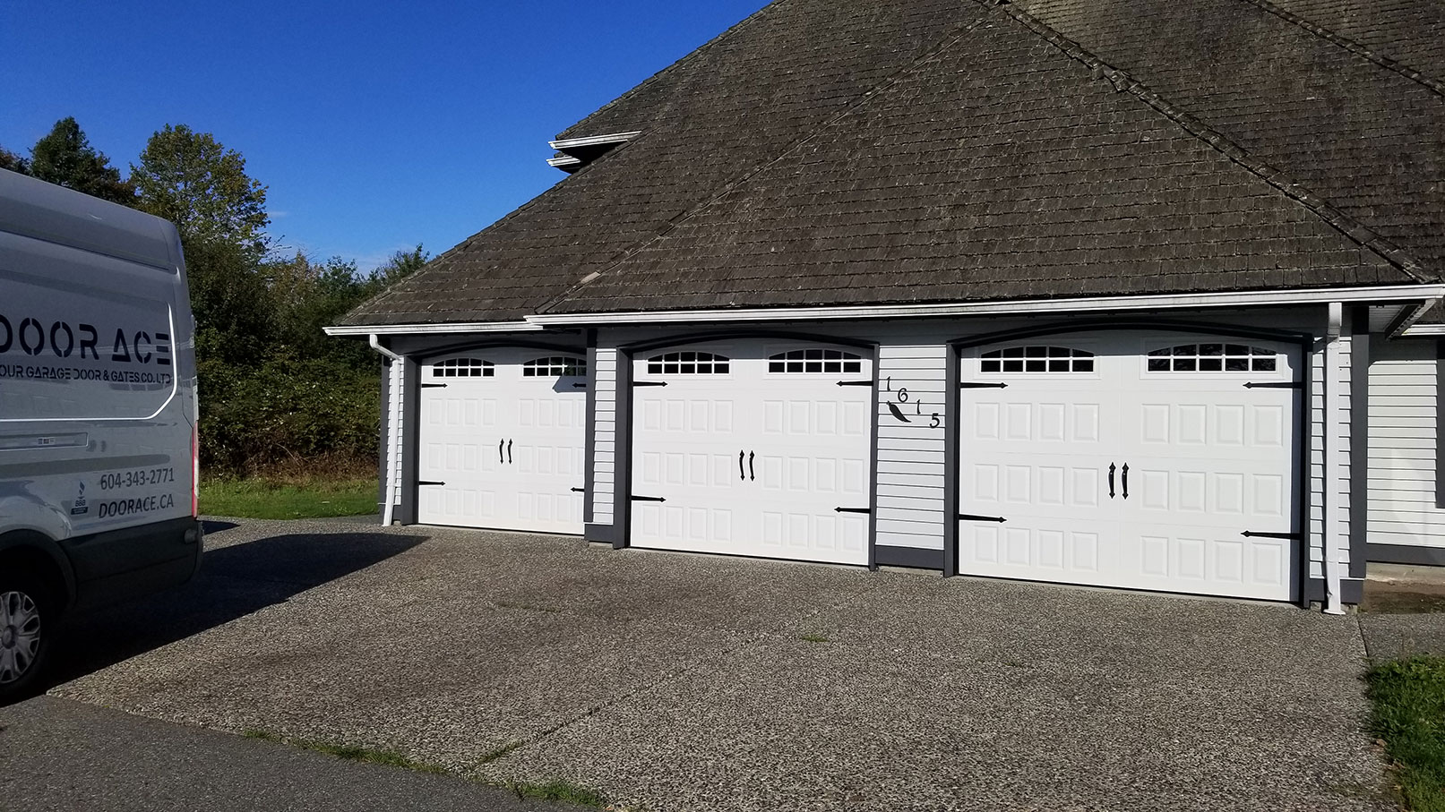 2 Triple Garage Door on Home Install After