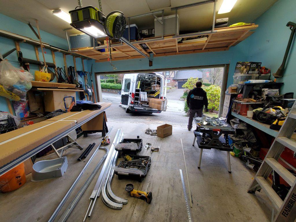 Doorace Crew at Work in Garage