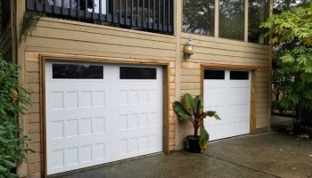 Residential garage door in vancouver